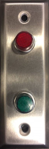 Red & Green light with Stainless steel mounting plate