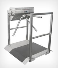 Tournament Turnstile with Platform and Rail