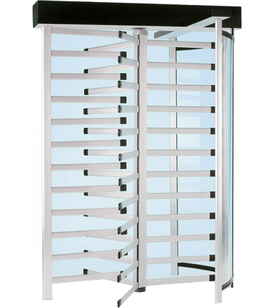 Tiffany Series T80: Full Height Turnstiles in Aluminum with Lexan
