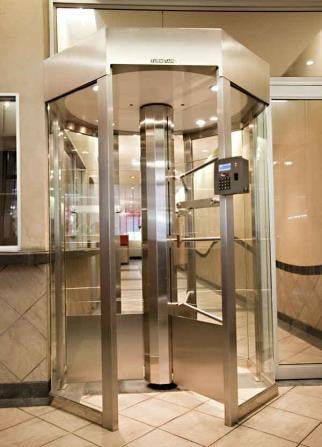 TRITON OCTAGONAL Full Height Glass Turnstile