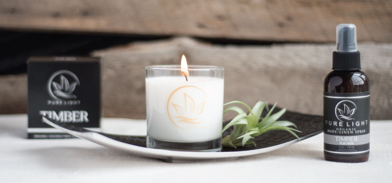 Pure Light Timber organic aromatherapy candle spray