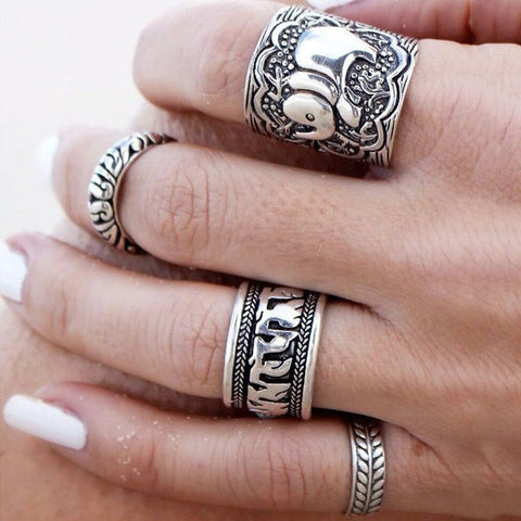 4-Piece Elephant Ring Set