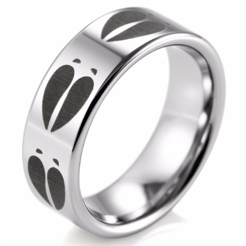 Deer Tracks Wedding Ring