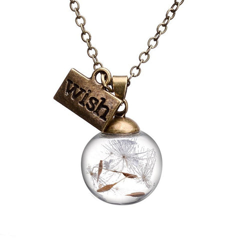 Wish - Real Dandelion Necklace