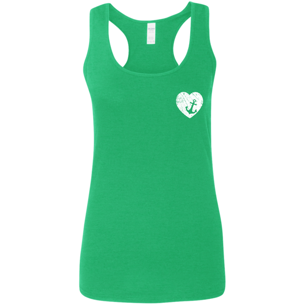 Heart Anchor Softstyle Racerback Tank