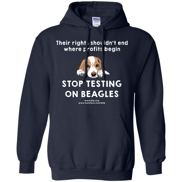 Stop Testing on Beagles - Help Us Hoodie