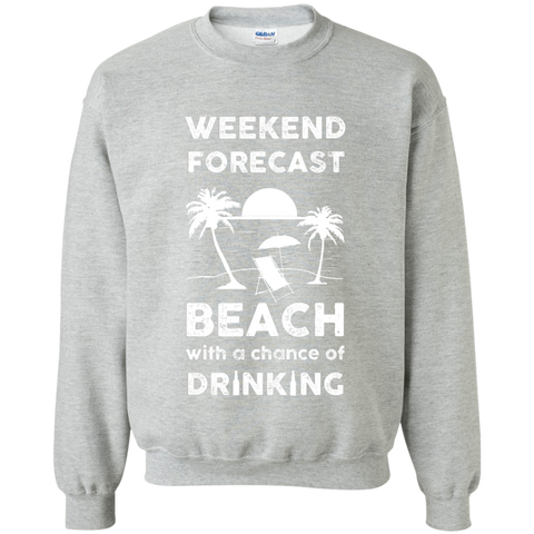 Weekend Crewneck Pullover Sweatshirt