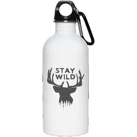 Stay Wild - 20 oz Stainless Steel Water Bottle