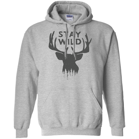 Stay Wild Mens Pullover Hoodie