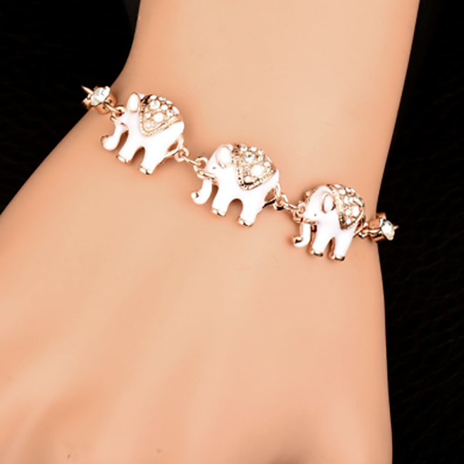 crystal grande charm elephant products new bracelets front women piece bracelet multilayer anchor color gold bangles for owl zewelrybox