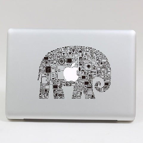 Elephant Art Apple Computer Decal