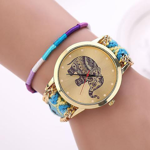 Beaded Elephant Watch
