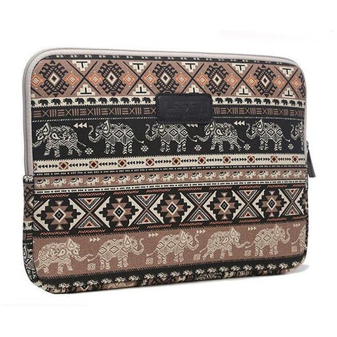 Tribal Elephants Laptop Sleeve