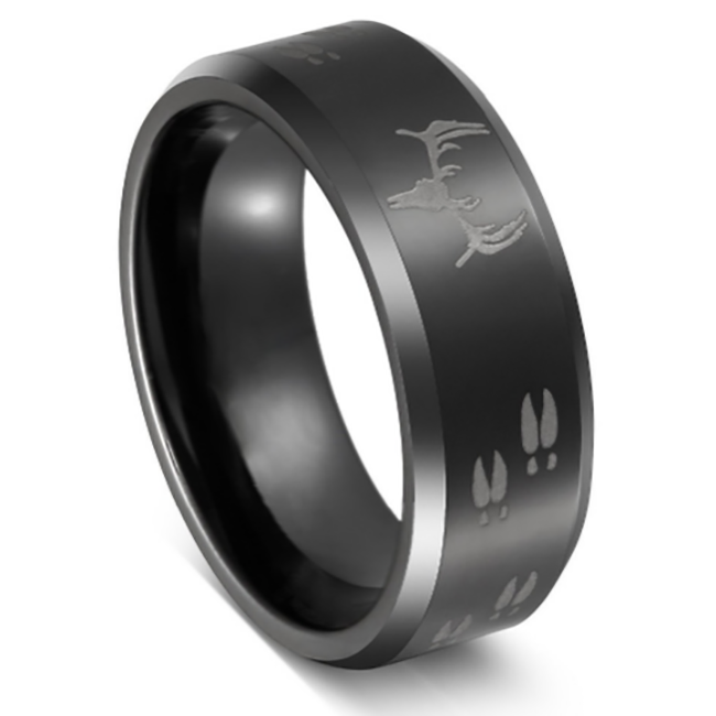 Deer Hunter - Men's Tungsten Wedding Ring