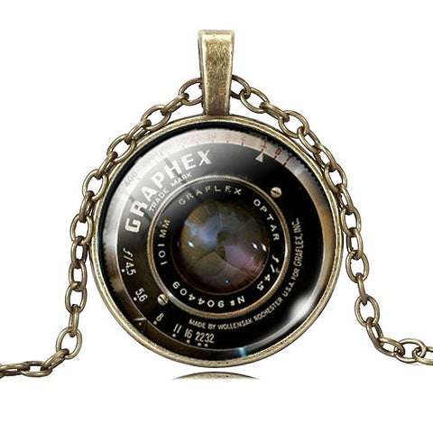 Vintage Photography Lens Necklace