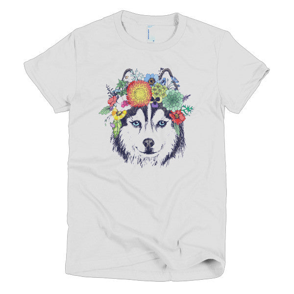 Flower Husky - American Apparel Women's Shirt