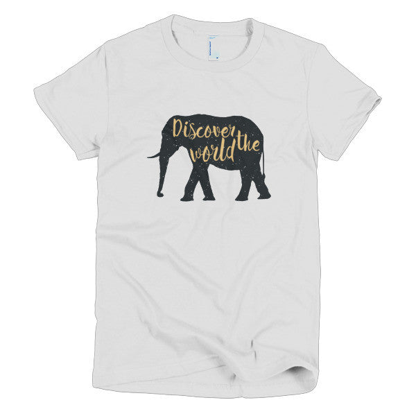 Discover the World - Women's American Apparel Tee