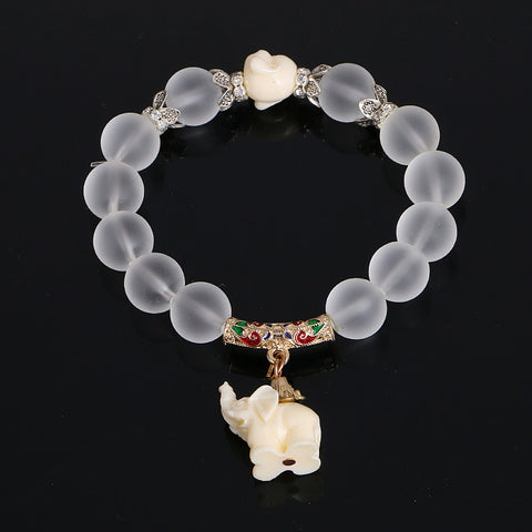 Unique Crystal Elephant Bracelet