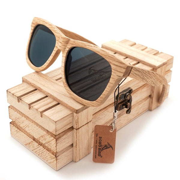 BOBO BIRD New Polarized Men's Brand Mirror Eyewear Wooden Sun Glasses Women Men Brand Wood Sunglasses for Friends as Gifts 2017