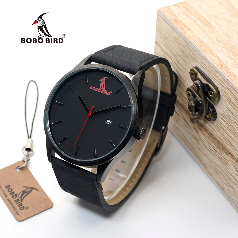 BOBO BIRD WG15 Retro Round Wrist Watch Mens Watches Top Brand Luxury Watches With Calendar Display In Gift Box Accept OEM