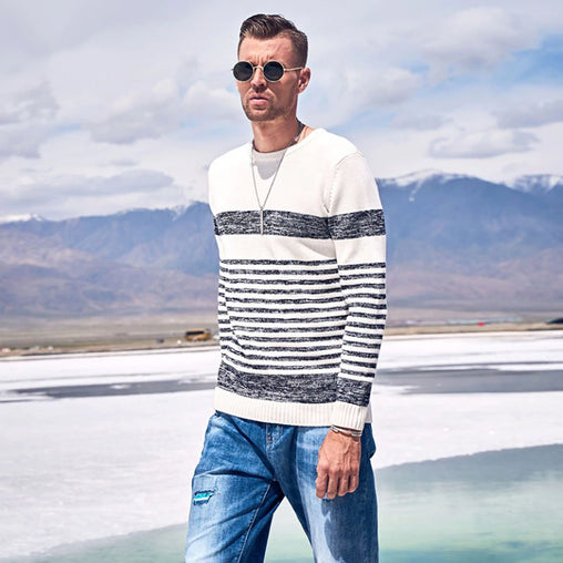 Autumn / Winter Stripe Knitted Pullover