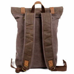 Luxury Vintage Canvas Leather Waterproof Travel Backpacks