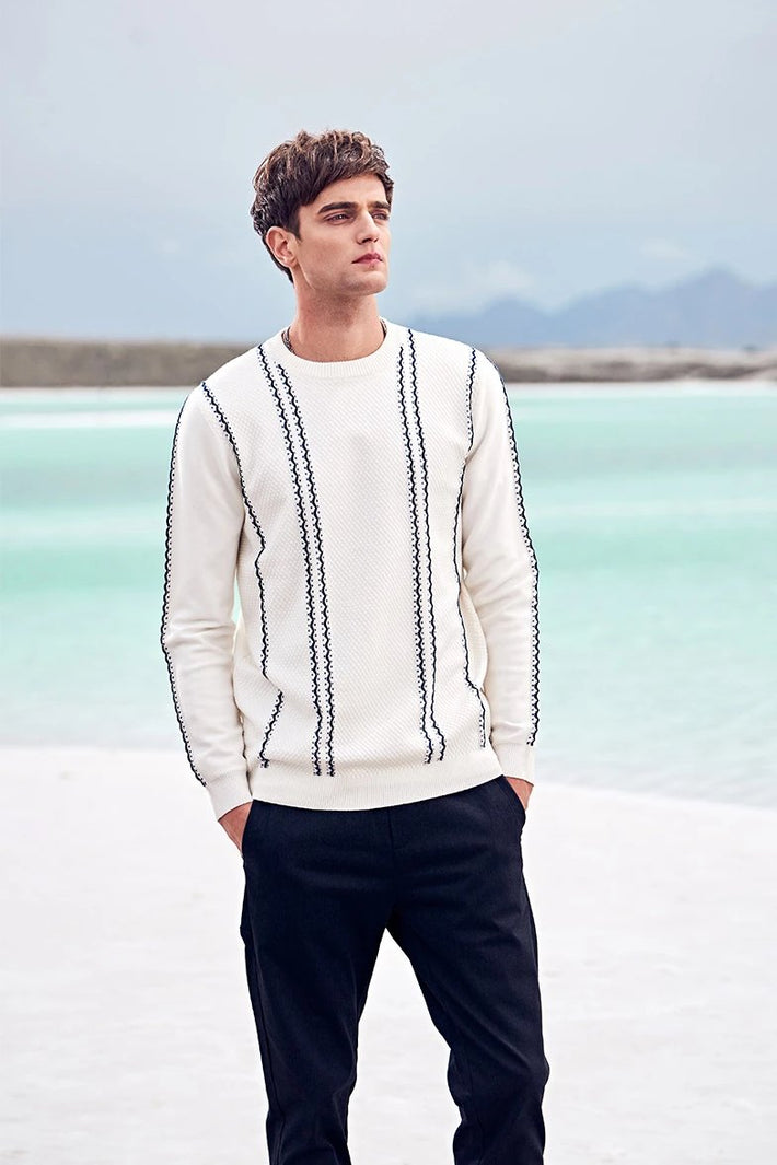 Autumn / Winter Contrast Color Casual Sweater