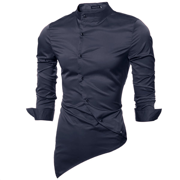 a733f0b624c Men Long Sleeve Shirt (3 colors) - Navy