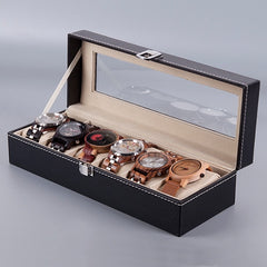 Leatherette Wrist Watch Organizer Case