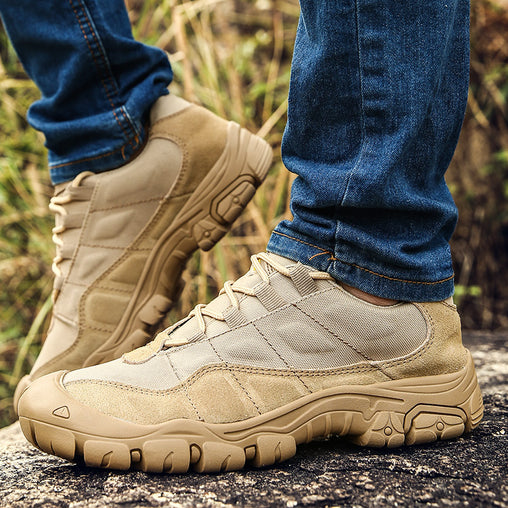 Men Hiking Waterproof Army Style Shoes