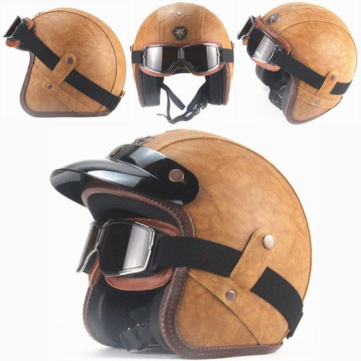 RETRO SCORPION HELMET - Brown