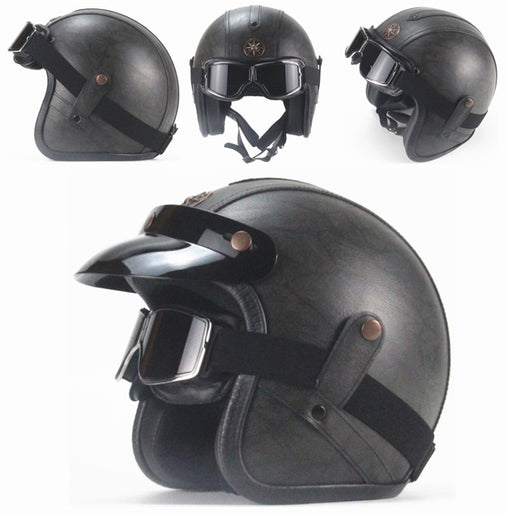 RETRO SCORPION HELMET - Dark grey