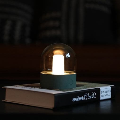 Vintage Glass Night Light USB Charging Desktop Bulb