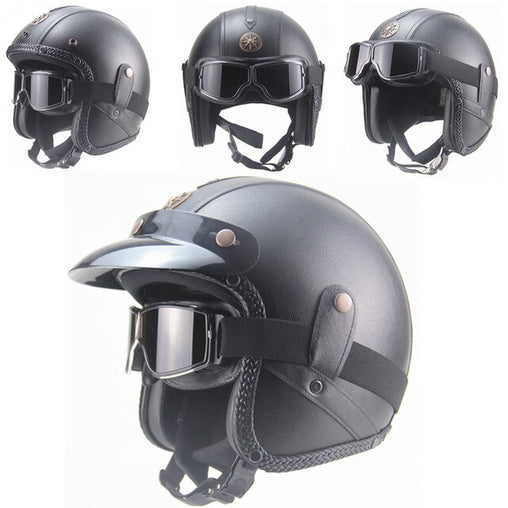 RETRO SCORPION HELMET - Black BZ