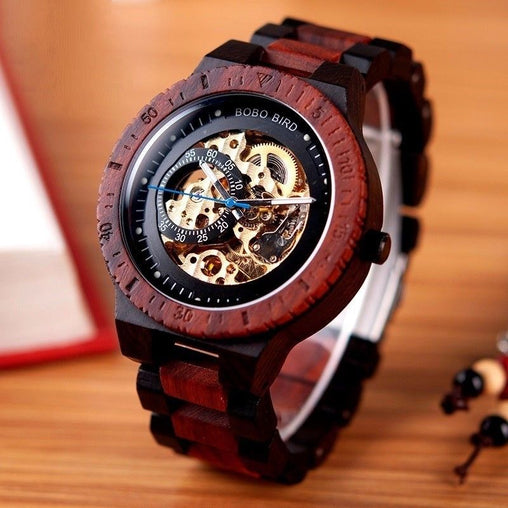 Luxury Wooden Mechanical Watch