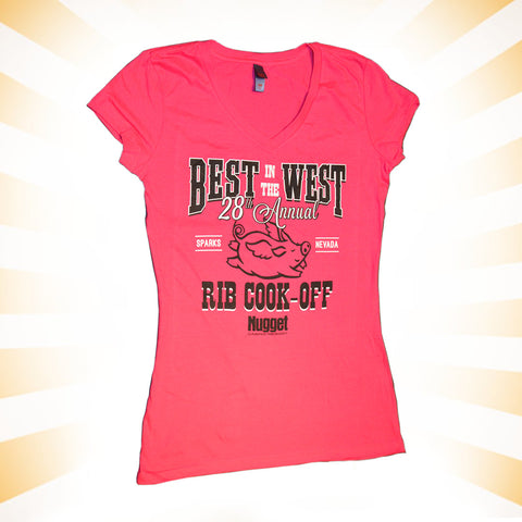 28th Annual Best in the West Ladies V-Neck T-Shirt