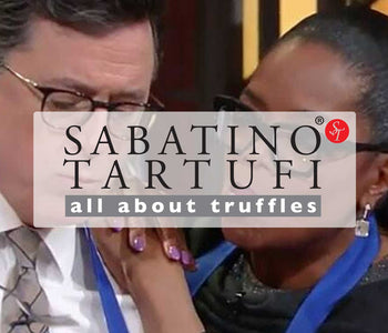 Oprah cooking with Truffle Zest® on The Stephen Colbert Show!