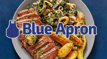 Blue Apron - NY Strip Steaks & Truffle Butter with Fingerling Potatoes & Sautéed Spinach