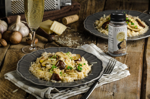Risotto with truffle zest