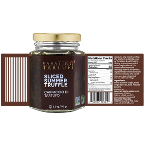 Sliced Summer Truffles in Oil - 3.2 oz - Sabatino Truffles