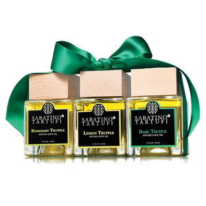 BASIL, ROSEMARY, LEMON TRUFFLE INFUSED OIL SET - Sabatino Truffles