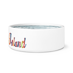 Traders Island Script Dog Bowl