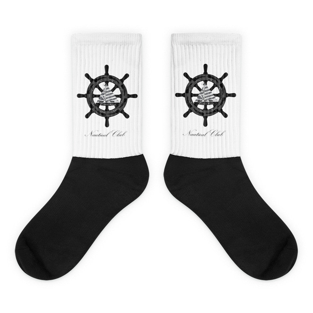 Traders Island Nautical Club Black Foot Socks