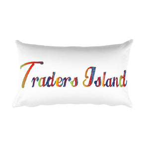 Traders Island Color Script and Color Boat Wheel Rectangular Pillow