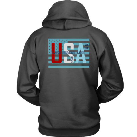 Lake Forest Life Unisex Hooded Sweatshirt