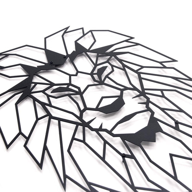 lion wall art, lion decor, löwe, metal wall art, metal decor, safari wall art