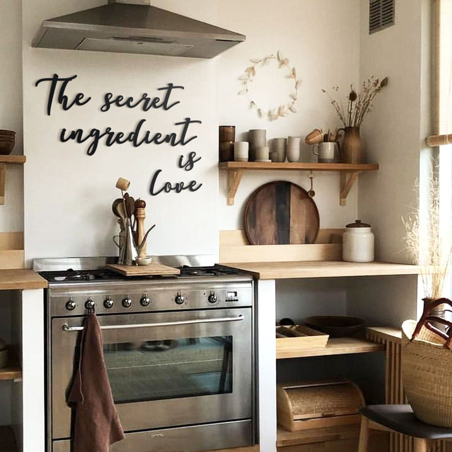 The Secret Ingredient Is Love Kitchen Decor Wall Art Posters Handmade Products