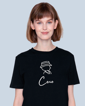 Load image into Gallery viewer, Coco Signature (only first name) T-SHIRT BLACK