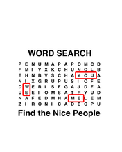 Load image into Gallery viewer, Word Search Nice People T-Shirt