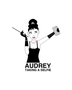 Audrey taking a selfie